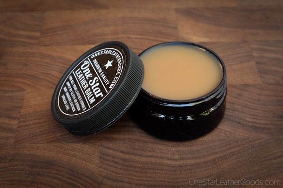One Star Leather Balm, leather treatment, leather oil - 2oz jar