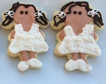 Little Girl or Boy Baptism Sugar Cookies - Made to order - 12 Pieces