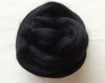 Wool rovings-12 inch pieces, 5 hard to find dark colors
