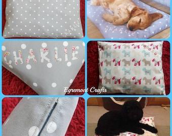 Handmade luxury Pet Bed, Pet Pillow, Dog Bed, Cat Bed, Dog Pillow, Cat Pillow. Made to order