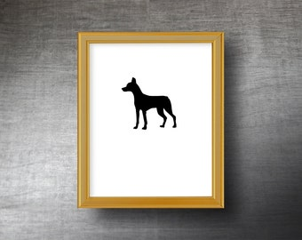Andalusian Hound Silhouette Art 8x10 - UNFRAMED Hand Cut Andalusian Hound Print - Personalized Name or Text Optional