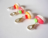 Sushi crochet stitch markers, crochet markers, polymer clay stitch markers, miniature food - UK seller