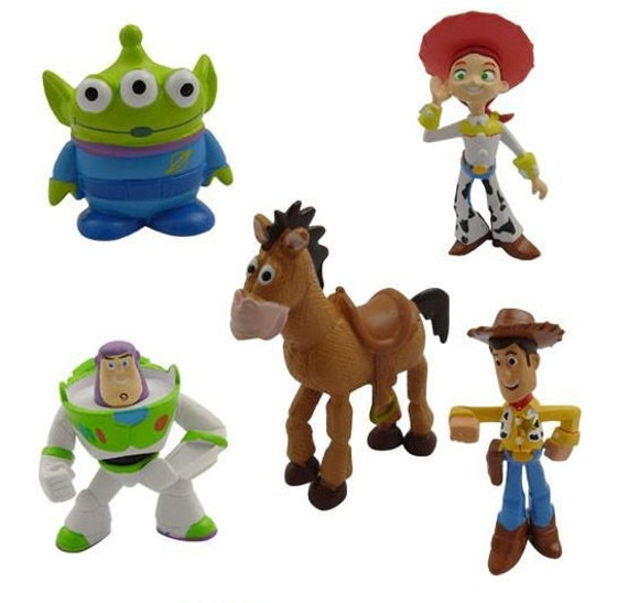 Knitting Pattern Toy Story Characters : Toy Story CAKE TOPPER Woody Buzz Lightyear Jessie Bullseye 5 Figure Set Birth...
