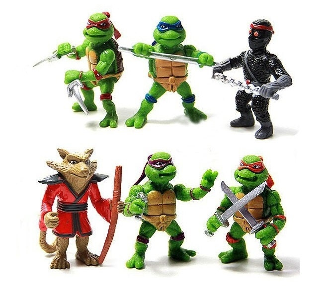 Ninja Turtles CAKE TOPPER Michelangelo Leonardo Donatello