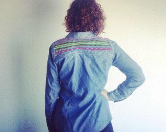 Handmade Denim Peruvian Button Up