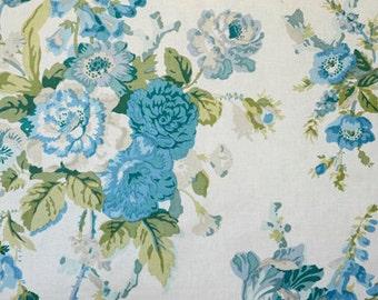 "Glazed Chintz ""Grenville"" Fabric Drapery Panels"
