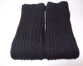 Black Knitted Leg warmers, Womens Leg warmers, Teens Leg warmers, Dance Legwarmers, Warm Legwarmers, Leggings, Tights, Arm Warmers