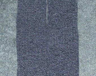 Grey with Black Knitted Legwarmers, School Leg warmers, Arm Warmers, Exercise Legwarmers, Dance Legwarmers, Warm Legwarmers