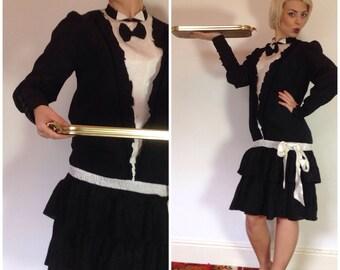 Vintage costume tuxedo dress novelty waiter dress penguin suit
