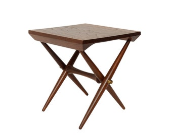 Jens Quistgaard Teak Side Table Staved Teak Danish Modern