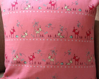 Folk Tale by Natalie Lymer for Cinderberry Stitches Leicen fabrics 45cm square cushion cover/pillow
