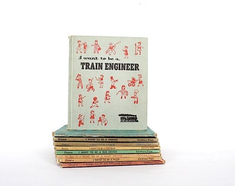 I Want To Be A Train Engineer - Children's Book - Carla Greene - Illustrated Book - Children's Press