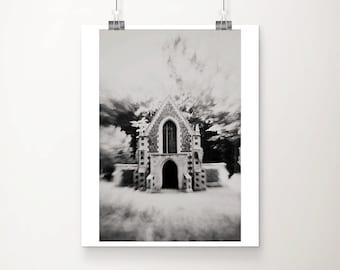 mausoleum photograph black and white photography church photograph dark photograph dark art architecture photograph crypt print
