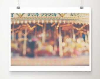 carousel photograph, carnival photograph, merry go round, color photography, carousel, carnival, summer, lights, blur