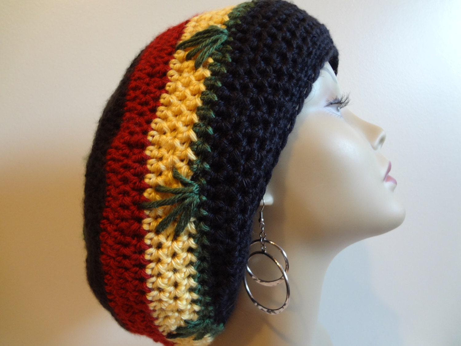 Crochet Rasta Hat With Brim Pattern images