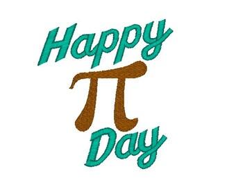 Happy Pi Day Machine Embroidery Design, pi embroidery design, teacher embroidery design, math teacher machine embrodiery design, pi design