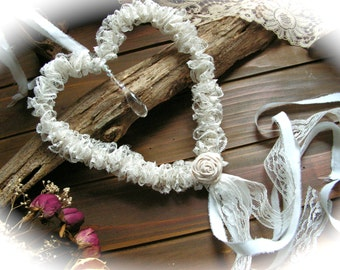 Wedding decor, Lace Hanging Heart , Shabby Chic Wedding Decor.