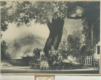Russia theater play actors on stage antique photo MXAT