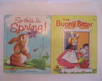 So This Is Spring & The Bunny Sitter, Wonder Books, Set of Two 2