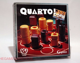 Quarto Wooden Strategy Game from Gigamic 1991 COMPLETE (read description)