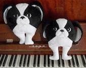 Japanese chin, children's toy, plush toy, stuffed animal, dog handmade, fur animal,  furry toy dog, for dog lover,  japanese chin toy