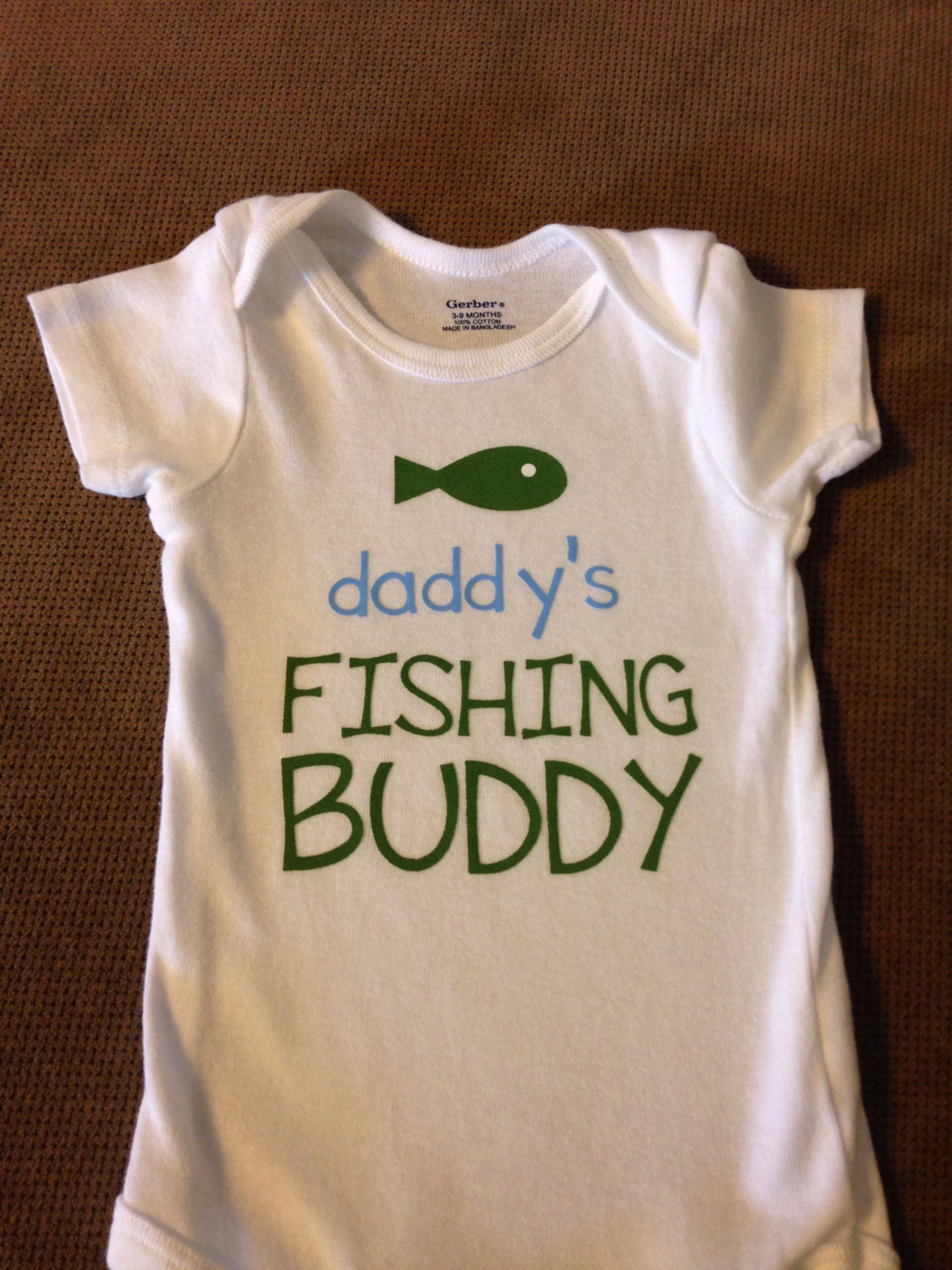Daddy 39 s fishing buddy baby onesie or toddler by for Fishing shirt onesie