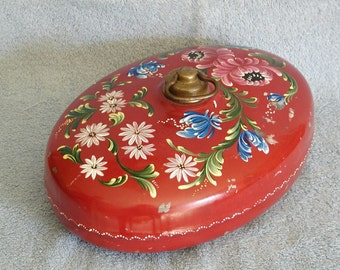 Bed/Foot Warmer - German with Tole Painting
