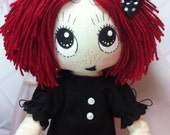 "LTD. 10"" Happy Ruby Gloom cloth doll with removable outfit & shoes"