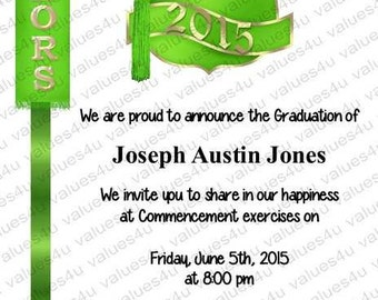 Personalized Graduation Commencement Invitation 919
