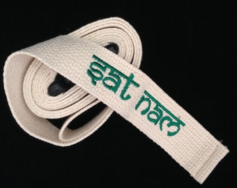 Custom Embroidered Yoga Strap. Personalize your practice! Our beauifully embroidered strap will enhance  your practice and keep you focused.