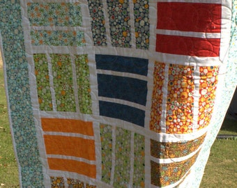 Handmade Lap Size Quilt Made with Ten Little Things Fabric