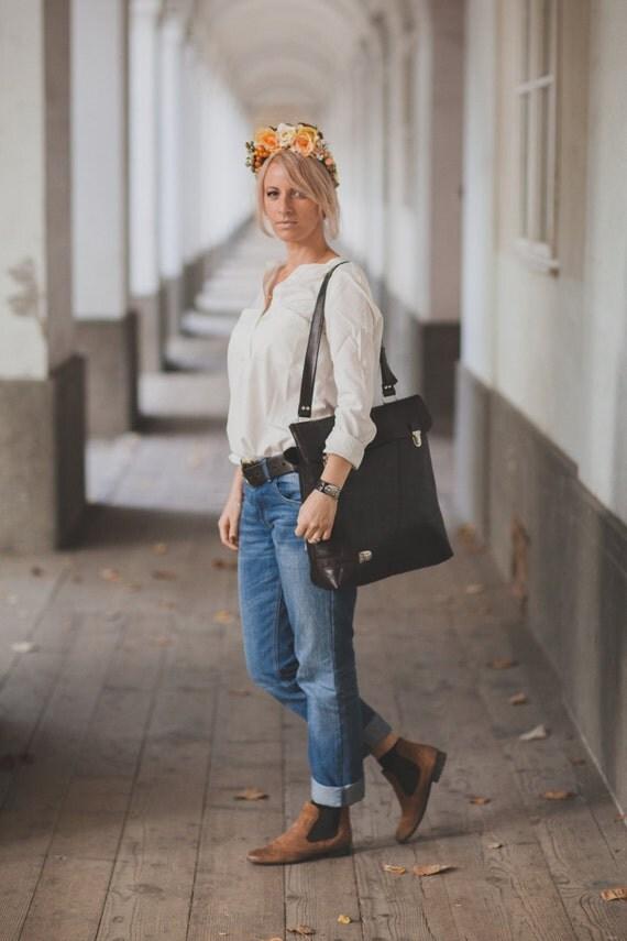 Shoulder bag, Tote bag, Leather Bag, Laptop Bag, Genuine Leather Tote bag, Office tote Bag, Vertical Satchel, Handmade