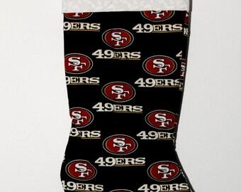 San Fransisco 49er's Christmas stocking