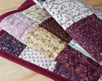 Shades of Burgundy Patchwork Quilted Table Runner