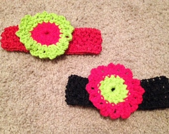 Crochet Flower Headband, you choose color