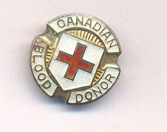 """Vintage Sterling Silver """"Canadian Blood Doner"""" Lapel Pin...Canadian Service Pin...C. Lamond ...Two Treasury Lists"""
