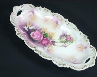 Antique R S Prussia Porcelain Celery Dish