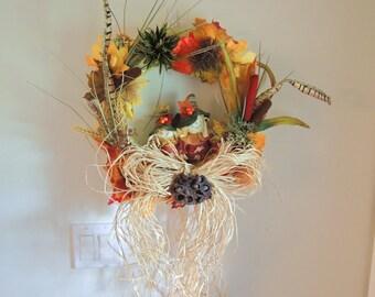 Autumn Scarecrow Wreath