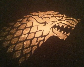 Game of Thrones Inspired House Sigil Stark Targaryen Lannister Greyjoy Handmade Bleach T-Shirt