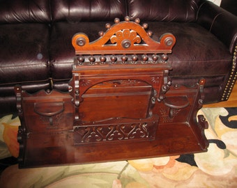 """Local Pick Up ANTIQUE ORGAN CANOPY Hutch Top 44"""" Long 32"""" High and 11"""" Deep Located In Walton N Y 2 1/2 Hours From New York City"""