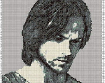 Sam Winchester Portrait - Cross Stitch Chart 14-Count