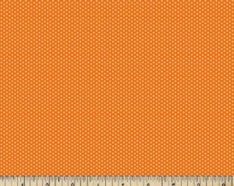 Orange Pin Dot Fabric --- Orange Polka Dot Fabric --- 100 Percent Cotton --- Fabric By The Yard