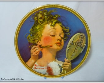 "Vintage- 1982 Norman Rockwell- ""Making Believe at the Mirror"" collector's Plate"