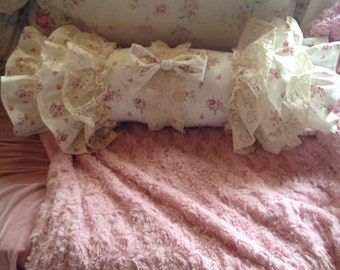 ruffled bolster pillow