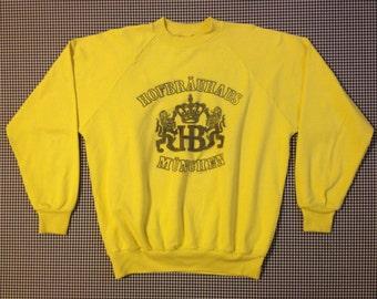 1980's, yellow, Hofbrauhaus Munchen, sweatshirt, Adult size XL
