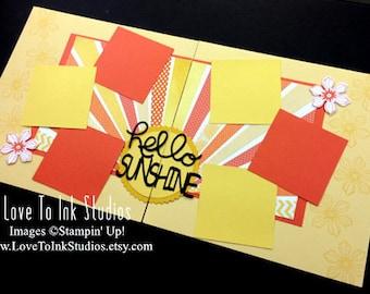 Hello Sunshine Scrapbook Page 12 x 12 layout Pre-Made