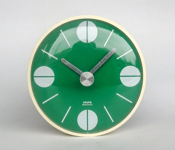 mid century modern wall clock cathrineholm style green