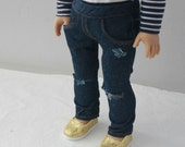 Distressed Skinny Jeans for American Girl Doll
