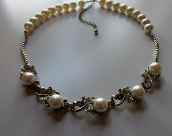 Wedding Pearl Necklace from Re-Purposed Vintage Jewelry