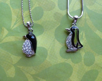 Penguin crystal pendent necklaces- 5 styles